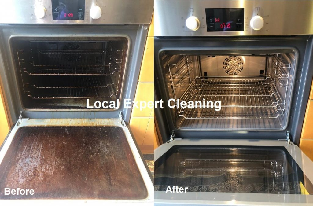 How to clean oven door glass inside and outside