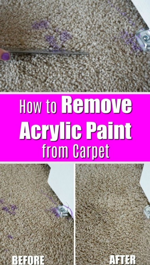 Removing paints from carpet and sofa