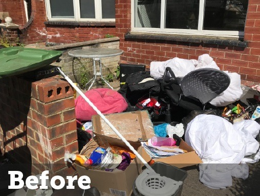 before rubbish removal by local expert cleaning company