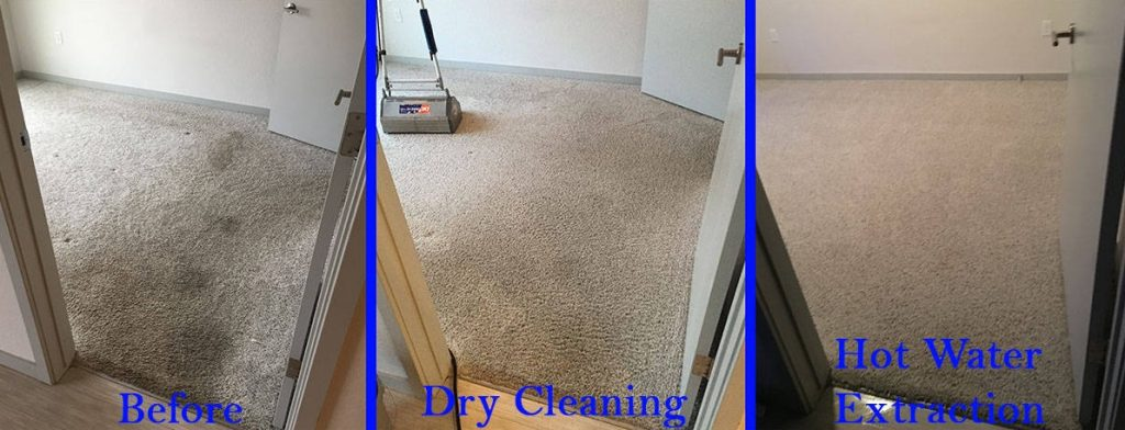 difference between dry cleaning and steam cleaning carpet